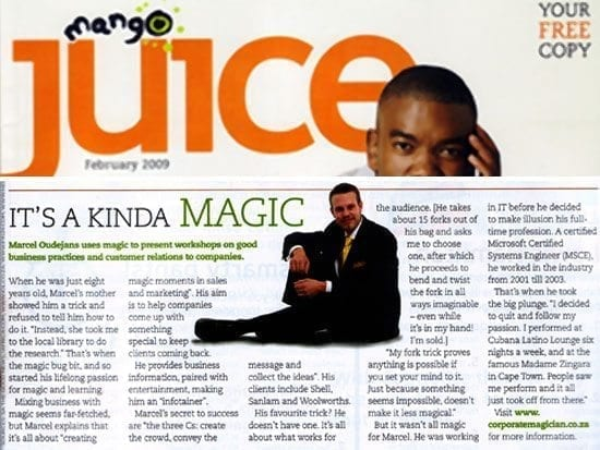 Marcel Oudejans interviewed by Juice magazine