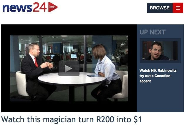 Video of Marcel Oudejans performing on News23 video