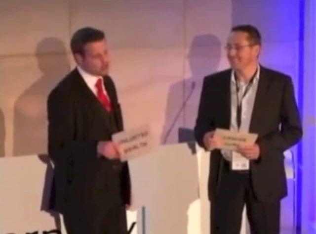 Marcel Oudejans presents a keynote presentation at Internetix
