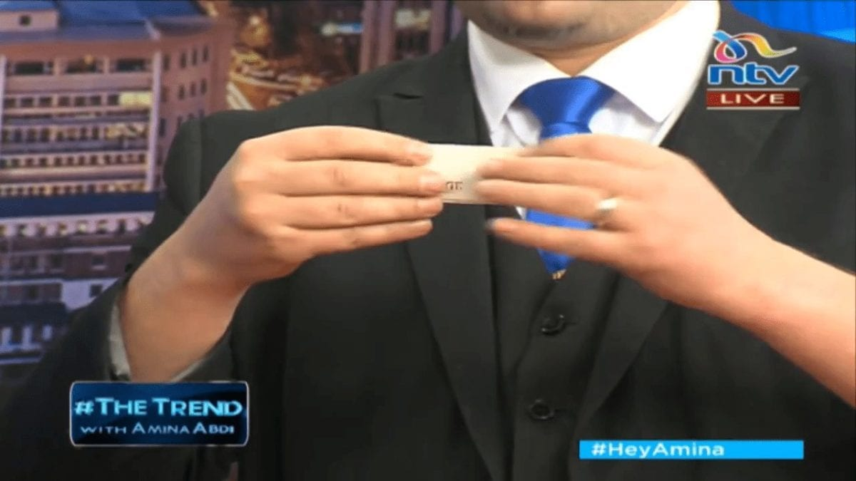 Marcel Oudejans performs on The Trend on NTV in Kenya